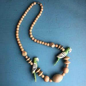 🦜 Vintage Wooden Necklace 🦜